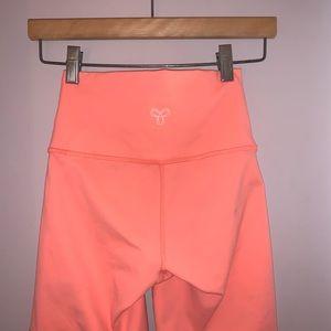 Neon Coral Bike Shorts
